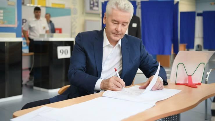 Der kremltreue Sergej Sobjanin bleibt weiterhin Bürgermeister in Moskau.