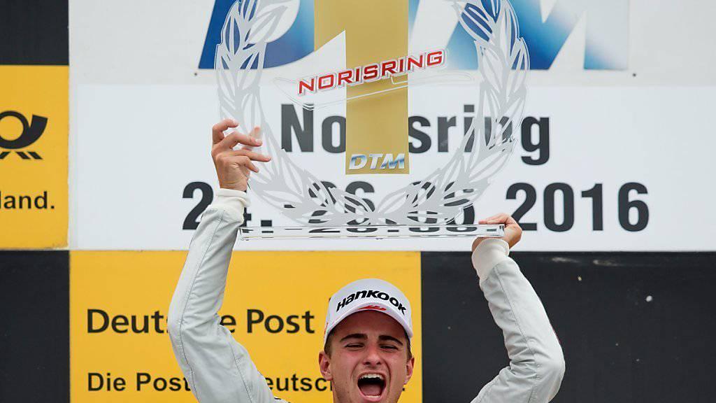 Der Schweizer Nico Müller fährt beim DTM-Rennen am Norisring sensationell zum Sieg