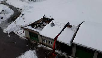 Dach in Urnäsch eingestürzt