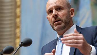 Empört: SVP-Nationalrat und ACS-Boss Thomas Hurter. (KEYSTONE/Anthony Anex)
