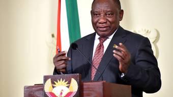 """Der südafrikanische Präsident Cyril Ramaphosa bezeichnete die Frauenmorde als """"Fleck auf unserem nationalen Gewissen"""". (Archivbild)"""