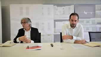Grosse Pläne: Park-Innovaare-CEO Daniel Kündig, der 2018 seinen Posten abgibt, und Managing Director Nils Gebhardt (v.l.).