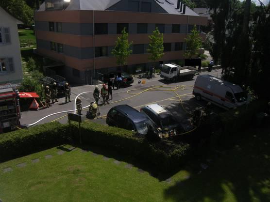 Die Feuerwehr Oberwil konnte den Brand löschen.