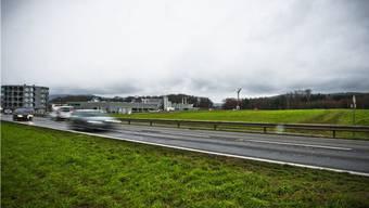 Ganz rechts ist die Spange Hornerfeld durch freies Wiesland geplant, links der Hero-Neubau neben der Kreuzung Neuhof.