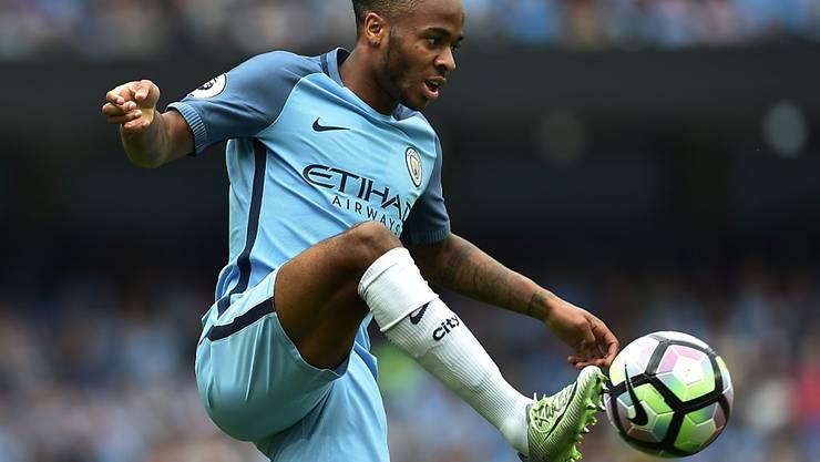 Raheem Sterling erzielte zwei Treffer für Manchester City