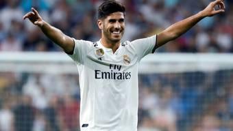 Marco Asensio nach seinem Siegestor für Real Madrid