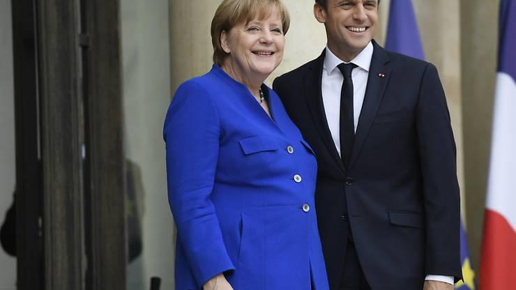 Deutschlands Kanzlerin Angela Merkel und der französische Präsident Emmanuel Macron wollen die Kooperation ihrer beider Länder weiter vertiefen.