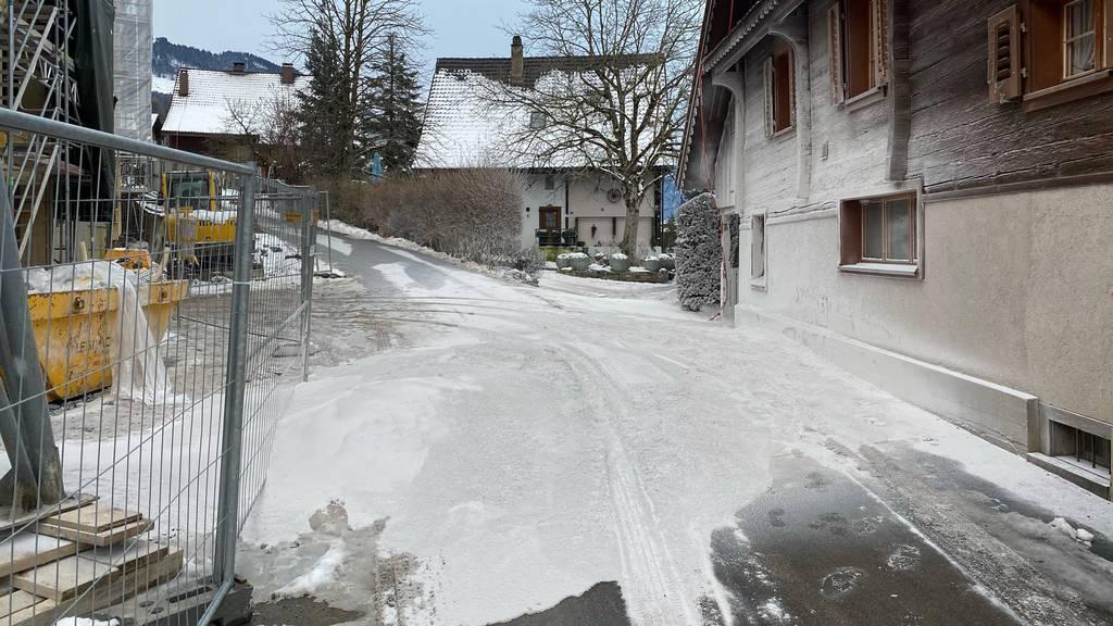 In Walchwil schneite es Gipspulver
