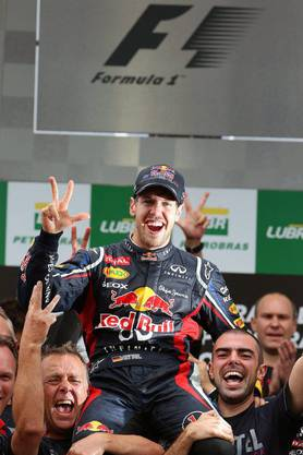 Vettel und sein Team geniessen es.