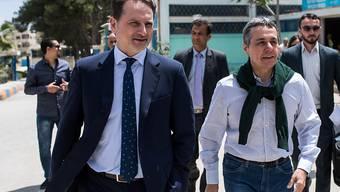 Aussenminister Ignazio Cassis (rechts) Anfang Woche zusammen mit UNRWA-Direktor Pierre Krähenbühl in Jordanien.