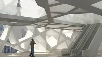 Teilansicht eines Innenraumes des islamischen Zentrums