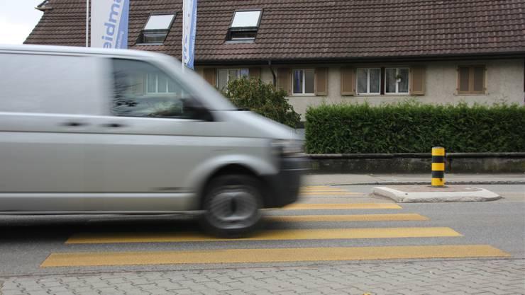 Auf diesem Fussgängerstreifen in Möhlin wurde der 67-Jährige angefahren.