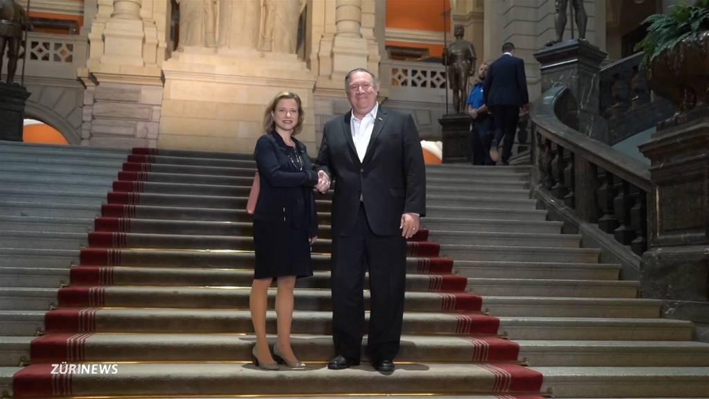 US-Aussenminister Pompeo besucht die Schweiz