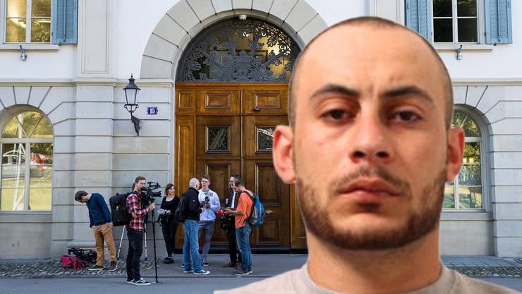 Hassan Kiko vor dem Zürcher Obergericht (Bildmontage)