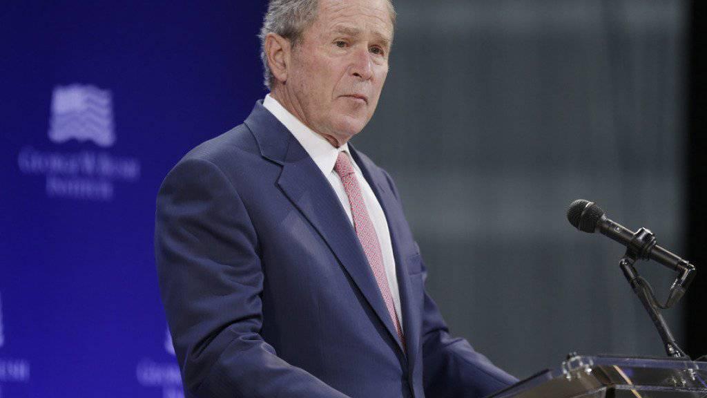 Ex-US-Präsident George W. Bush junior ist zum Ehrenbürger von Vilnius ernannt worden. Eine Gedenktafel soll zudem an seine Verdienste erinnern. (Archivbild)
