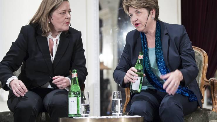 Die CVP-Bundesratskandidatinnen Heidi Z'Graggen, Regierungsrätin von Uri und Nationalrätin Viola Amherd.