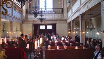 Synagoge Endingen im Jahre 2011: Für einen jüdischen Gottesdienst braucht es zehn Männer, sie finden nur noch gelegentlich statt.