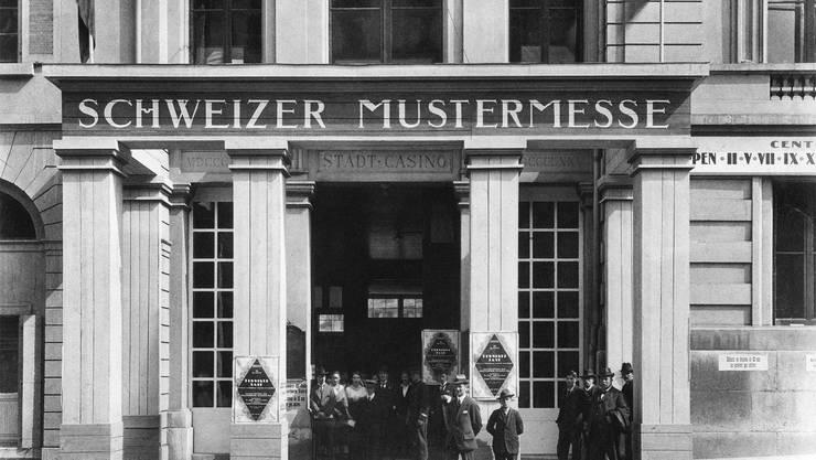 1917: Erste Schweizer Mustermesse im Basler Stadtcasino