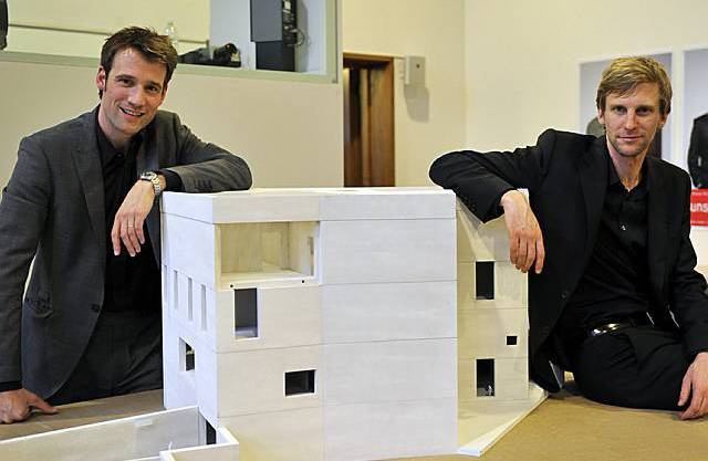 Die Architekten Emanuel Christ (l.) und Christoph Gantenbein (r.)