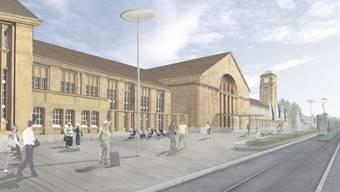 Der Vorplatz am Badischen Bahnhof kann umgebaut werden.