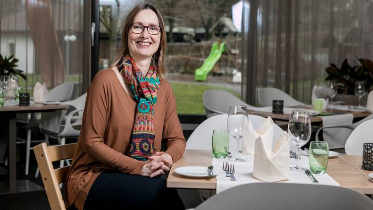 Gastro-Bloggerin Kathrine Berger Meili aus Bergdietikon im Restaurant Gnadenthal in Niederwil.