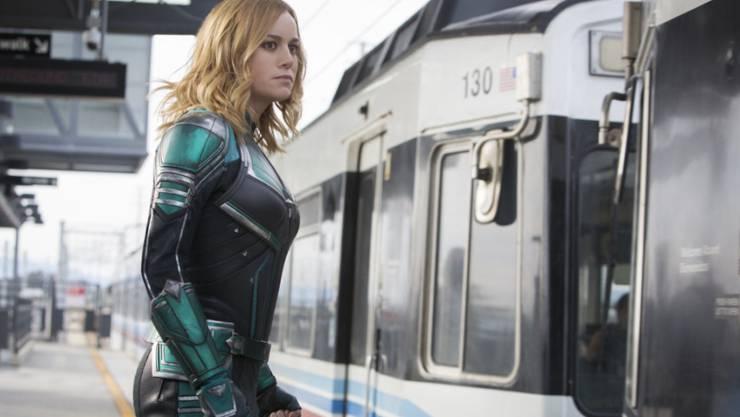 """""""Captain Marvel"""" mit Brie Larson in der Hauptrolle hat am Wochenende vom 15. bis 17. März 2019 die US-Kinocharts angeführt. (Archiv)"""