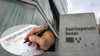 Wegen gefäschter Lohnausweise wurde der Mann vor dem Bezirksgericht Baden angeklagt.