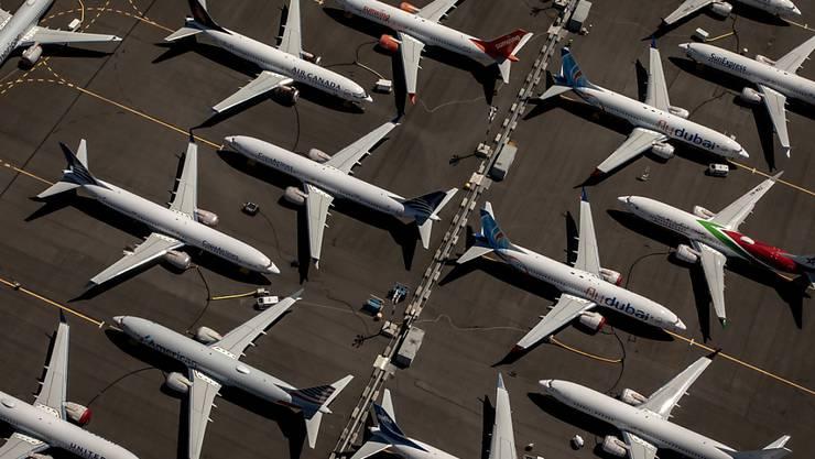 Bei der Inspektion der Boeing-Flugzeuge des Typs 737 Max sind weitere Software-Probleme aufgetaucht. Es besteht weltweit ein Flugverbot für Maschinen dieses Typs. (Archivbild)
