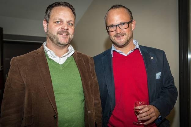 Daniel Heiniger mit Tom Koller von der Firma Planzer