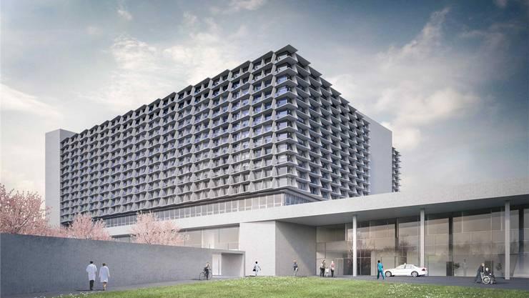 So soll das Bürgerspital bald aussehen. Für eine Kinderklinik wird wohl aber kein Platz sein.