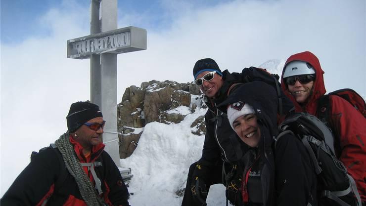 Bergsteiger am Jubiläumstag auf dem Finsteraarhorn – die Prominenz blieb im Tal.