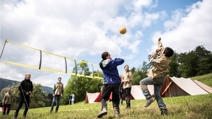Gemeinsamer Spass: In den letzten Jahren wollen wieder vermehrt Jugendliche in die Pfadi. Symbolbild/AZ Archiv
