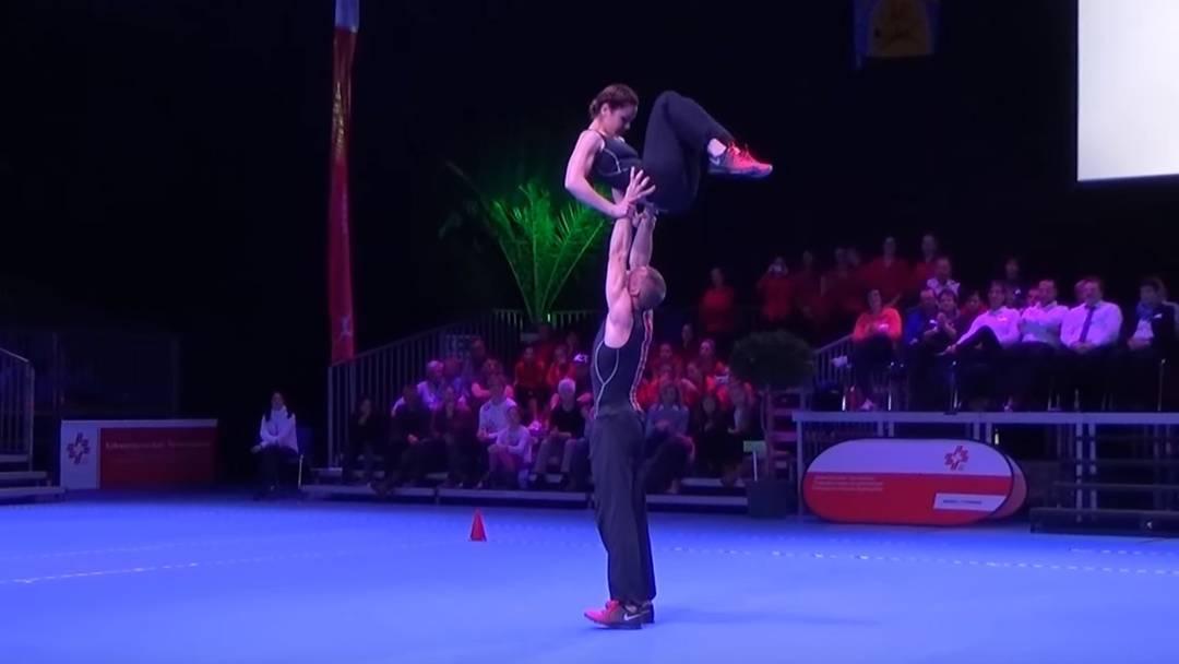 Schweizer Meister SM Aerobic 2015 (Paar): Ramona Probst und Michel Anken  (DTV Laupersdorf/STV Niederbuchsiten