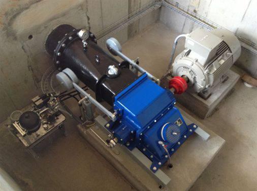 Turbine mit Generator Leistung max. 36.5 kW