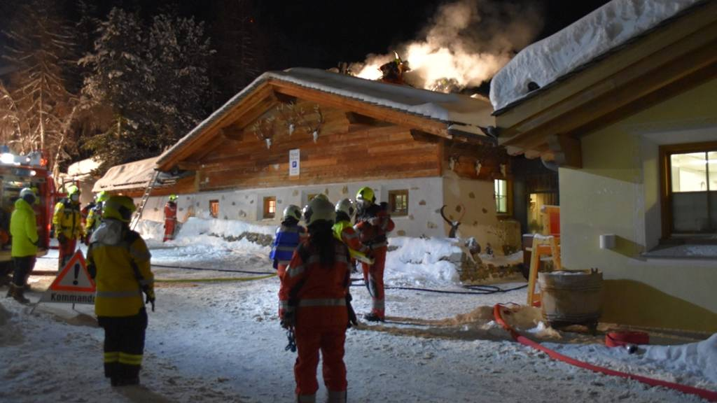 Erheblicher Schaden bei Brand in Engadiner Hotel