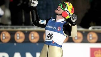 Johan Remen Evensens Jubel nach seinem Weltrekord.