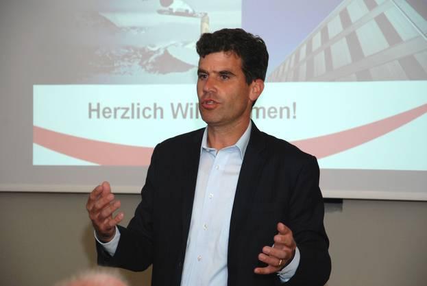 Der Oel-Pool-CEO Ramon Werner sprach zur GV
