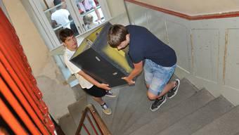 Für die Schüler gab es zahlreiche Treppen zu überwinden.
