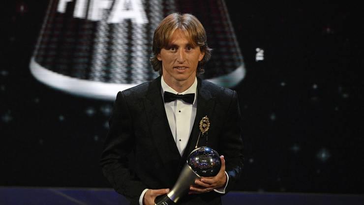 Luka Modric ist zum ersten Mal Weltfussballer des Jahres
