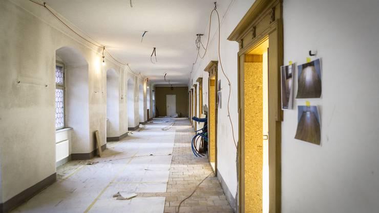 Zurzeit ist die Renovation in der Klausur - dem Wohntrakt der Schwestern - in vollem Gang