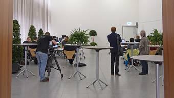 Die Winterthurer Stimmberechtigten werden am 23. August den Nachfolger oder die Nachfolgerin von Stadträtin Barbara Günthard-Maier (FDP) wählen. Im Bild das Wahlzentrum bei den Stadtpräsidiumswahlen 2018.