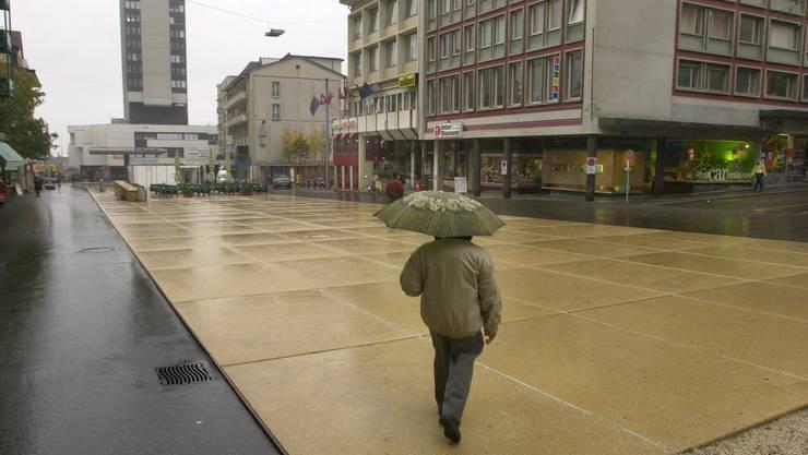 Marktplatz Grenchen im Jahre 2003