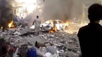 Bürgerreporter-Foto eines Anschlags in der Provinz Idlib (Archiv)