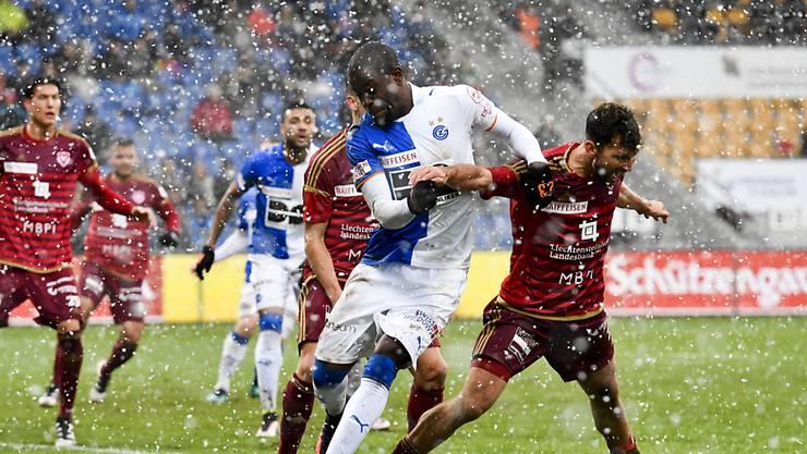 Fussball im Schneetreiben: keine Tore bei Vaduz - GC