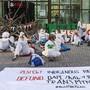 Blockade für das Klima: So protestierten Aktivisten vergangene Woche vor der UBS in Basel.
