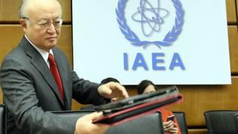 Die von Yukiya Amano präsidierte IAEA ist zum Schluss gekommen, dass der Iran an Atomwaffen geforscht hat. (Archiv)