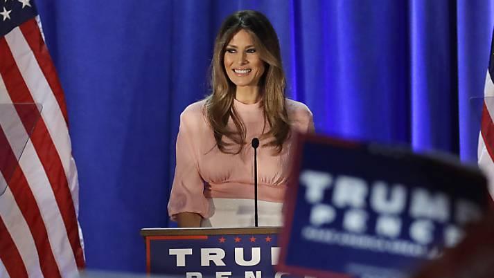 Melanie Trump bei ihrem Auftritt in Berwyn