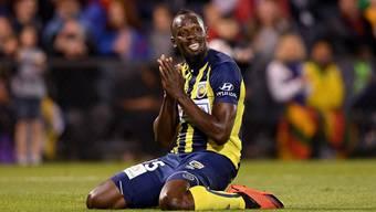 Kam bisher nur in Testspielen zum Einsatz: Usain Bolt sehnt sich nach einer Karriere als Profifussballer