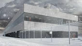 So soll der Neubau der Justizvollzugsanstalt (JVA) Kanton Solothurn nach ihrer Eröffnung Ende 2014 aussehen.