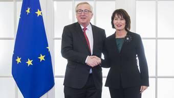 Jean-Claude Juncker und Doris Leuthard haben am Donnerstag auch über das Rahmenabkommen gesprochen. Es soll im nächsten Frühjahr stehen.
